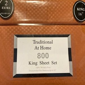 Traditional At Home 6p King Sheet Set Auburn rust